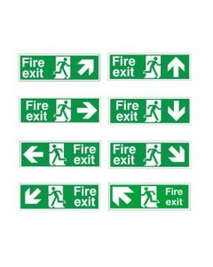 Fire Exit Signs - White