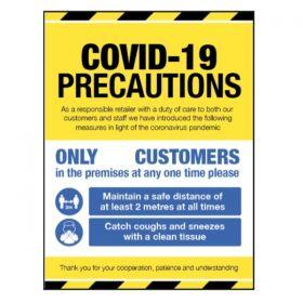 Covid-19 Precautions Sign For Businesses Open To The Public - Rigid Plastic - 18423H