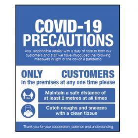 Covid-19 Precautions Sign For Businesses Open To The Public - Rigid Plastic - 18424H