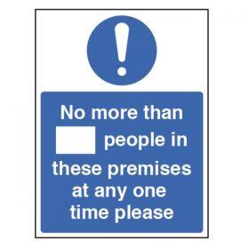 Maximum People In Premises Guidance Sign - Self Adhesive Vinyl - 28427H
