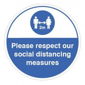 Coronavirus Please Respect Our Social Distancing Measures Sticker - 28433F