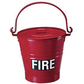 Metal Fire Bucket - Flat Bottom 3745/00