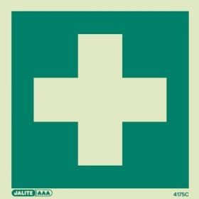 Jalite 4175C First Aid Sign - Photoluminescent - 150 x 150mm