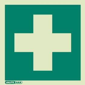 Jalite 4175E First Aid Sign - Photoluminescent - 150 x 150mm