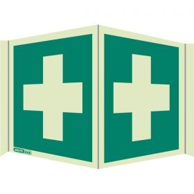 Jalite 4175/P20 Wall Mounted Panoramic First Aid Sign - Photoluminescent