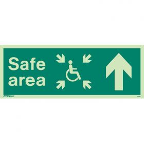 Jalite 4651K Photoluminescent Safe Area Sign For The Mobility Impaired - Up Arrow
