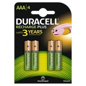Duracell Duralock Rechargeable AAA Batteries - Pack of 4 - HR03 / DC2400