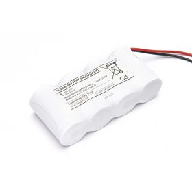 Yuasa 4DH4-0L3 4 Cell Emergency Lighting Battery Pack 4.8V 4Ah D Size - Side By Side - Nickel Cadmium