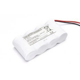 4 Cell Emergency Lighting Battery Pack 4.8V 4Ah D Size - Side By Side