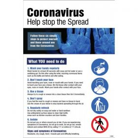 Coronavirus Help Stop The Spread Synthetic Paper Poster - 55000