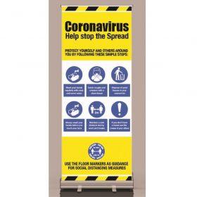 Coronavirus Help Stop The Spread Roller Banner - 58428