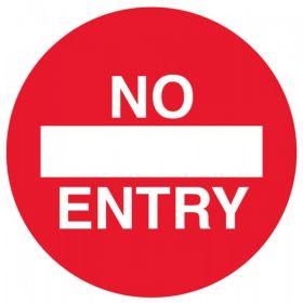 No Entry Floor Graphic 400mm Diameter - 58466