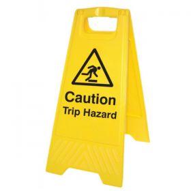 Caution Trip Hazard Standing Warning Sign - Yellow - 58521