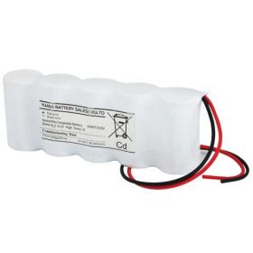 Yuasa 5DH4-0L3 5 Cell Emergency Lighting Battery Pack 6.0V 4Ah D Size - Side By Side - Nickel Cadmium