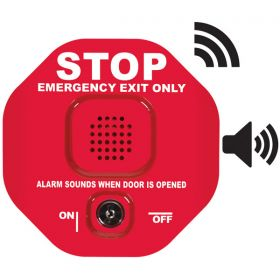 STI-6400WIR Wireless Exit Door Alarm - Red