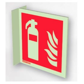 Jalite 6422FS15 Wall Mounted Double Sided Fire Extinguisher Sign