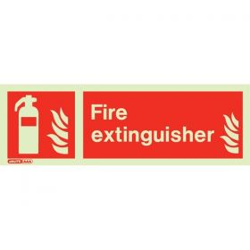 Jalite 6490PT Photoluminescent Fire Extinguisher Location Sign 100x300mm