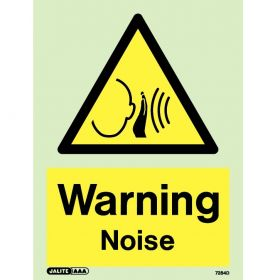 Jalite 7284D Photoluminescent Warning Noise Sign 150 x 200mm