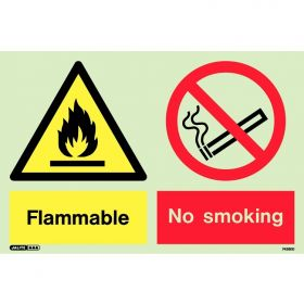 Jalite 7428DD Flammable No Smoking Warning Sign