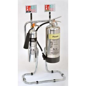 Chrome Fire Extinguishers & Stand Package - Foam Version - 81/03600