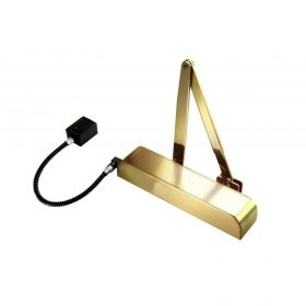 Exidor 9870-BR Electro-Magnetic Door Closer 24V DC - Brass Finish Version