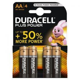 Duracell AA Alkaline Battery - Pack of 4 - MN1500 LR6 1.5V
