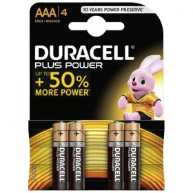Duracell AAA Alkaline Battery - Pack of 4 - MN2400 LR03 1.5V