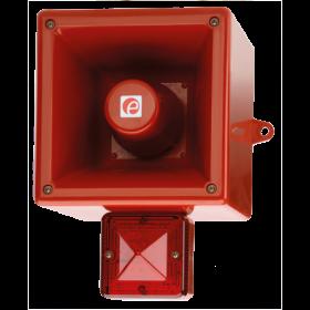 E2S AL105NXAC024R/R Industrial Sounder Beacon 24V AC - Red Body & Lens