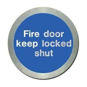 Jalite AL5140O Fire Door Keep Locked Shut Disc - Aluminium With Self-Adhesive Backing