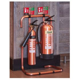 Commander Contempo Antique Copper Fire Extinguisher & Stand Package - ACFESP