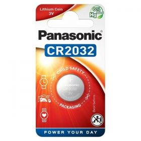Panasonic CR2032 3 Volt Lithium Battery Coin Cell