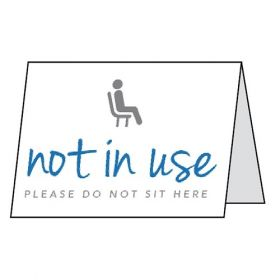 Seat Not In Use Double Sided Table Card - Pack of 5 - CV0009