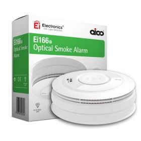 Aico Ei166e Mains Interlinked Optical Smoke Detector With Lithium Battery Backup