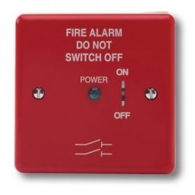 Haes FAIS-R-B Fire Alarm Mains Isolation Keyswitch - Red - Supplied With Backbox