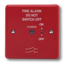 Haes FAIS-R-L Fire Alarm Mains Isolation Keyswitch - Red