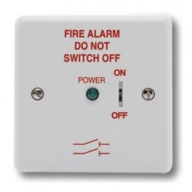Haes FAIS-W-B Fire Alarm Mains Isolation Keyswitch - White - Supplied With Backbox