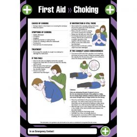 First Aid Choking Sign / Poster - 55904