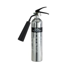 Firechief 1818 Polished Chrome 2Kg Carbon Dioxide Fire Extinguisher - FPC2/CH