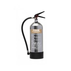 Firechief 1818 Polished Chrome 6 Litre Foam Fire Extinguisher - FPF6/CH