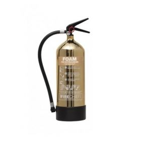 Firechief 1818 Polished Gold 6 Litre Foam Fire Extinguisher - FPF6/GO