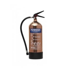 Firechief 1818 Polished Copper 6Kg Powder Fire Extinguisher - FPP6/CO