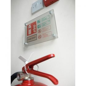 Frosted Acrylic Foam Fire Extinguisher ID Sign - 51234