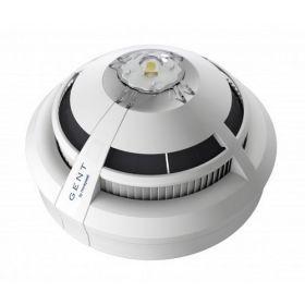 Gent S4-711-V-VAD-HPW Vigilon S-Quad Dual Optical Heat Detector Voice Sounder & High Power White VAD