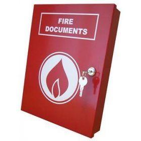 Elmdene Fire Document Box - Red - A4-DOC-BOX-R-FIRE