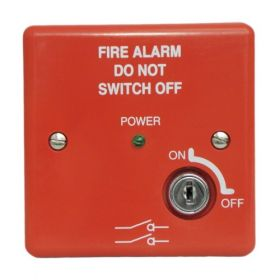Haes MISW-R Fire Alarm Mains Isolation Keyswitch - Red