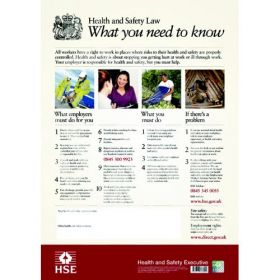 Health & Safety Law Poster - Flexible Plastic 81/03287