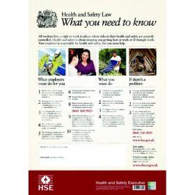 Health & Safety Law Poster - Rigid Plastic CS58112