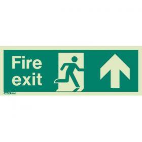 Jalite 436K Up Arrow Photoluminescent Fire Exit Sign (150 x 400mm)