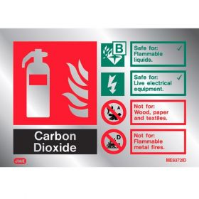 Jalite ME6372ID Metal Effect CO2 Extinguisher ID Sign