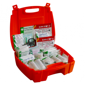Evolution First Aid Kit In Orange Case - Large - BS8599-1 Compliant - K3032LG (No Wall Mounting Bracket Required)